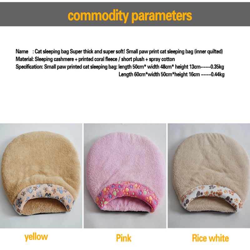 Warm Pet Puppy Dog Cat Bed House Cushion Half Covered Bed cotton Cat Sleeping Bag free shipping