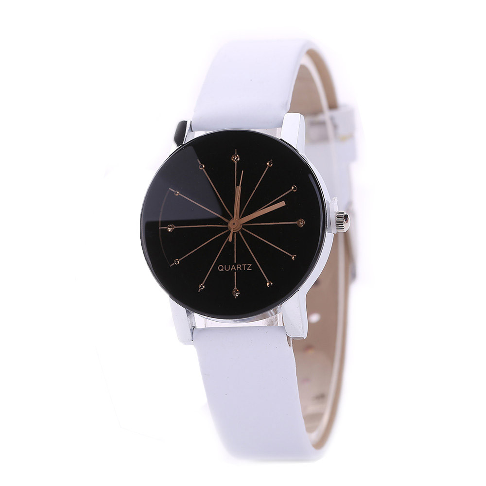 Hot Sale Elegant Ladies Diamond Small Dial Watches Women Vogue PU Leather Strap Analog Quartz Wrist Watch Simple Clock Reloj #Ju fabulous 2016 quicksand pattern leather band analog quartz vogue wrist watches 11 23