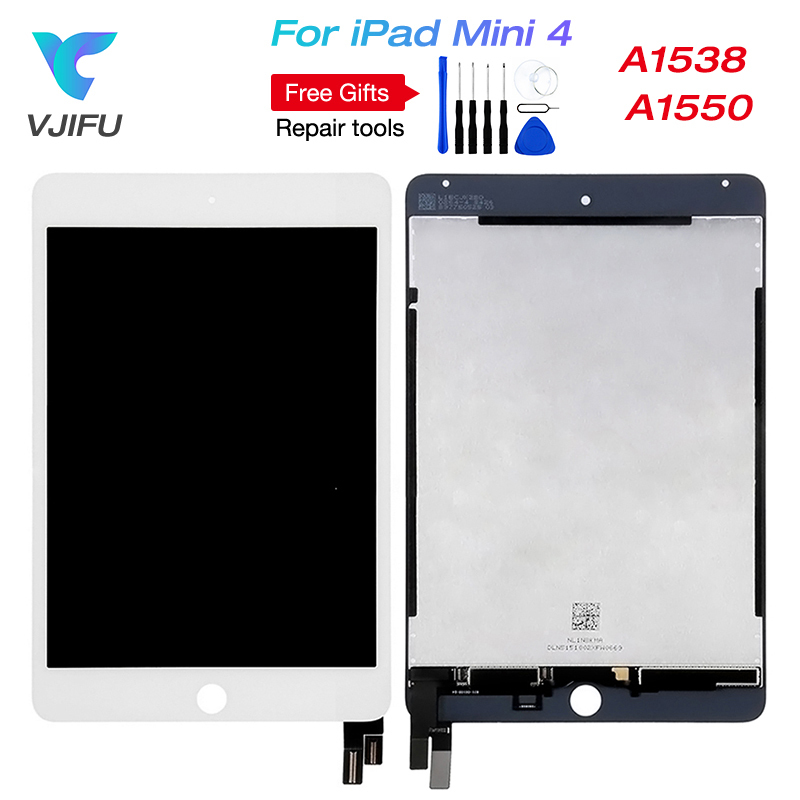 New For iPad mini 4 LCD Screen For iPad mini4 A1538 A1550 EMC 2815 EMC 2824 lcd Display Touch Screen Assembly Free Shipping wholesale 5pcs lot free shipping via dhl for ipad mini 1 lcd display original quality replacement new screen