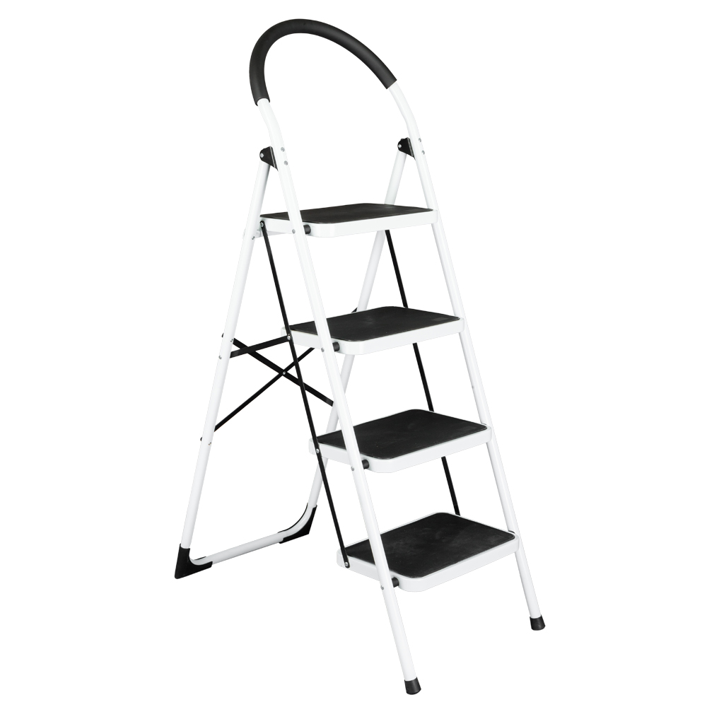 Household Portable Folding Stool Heavy Duty Industrial Lightweight 4-Step Iron Ladder Multifunctional Anti-Slip Step Ladders цены