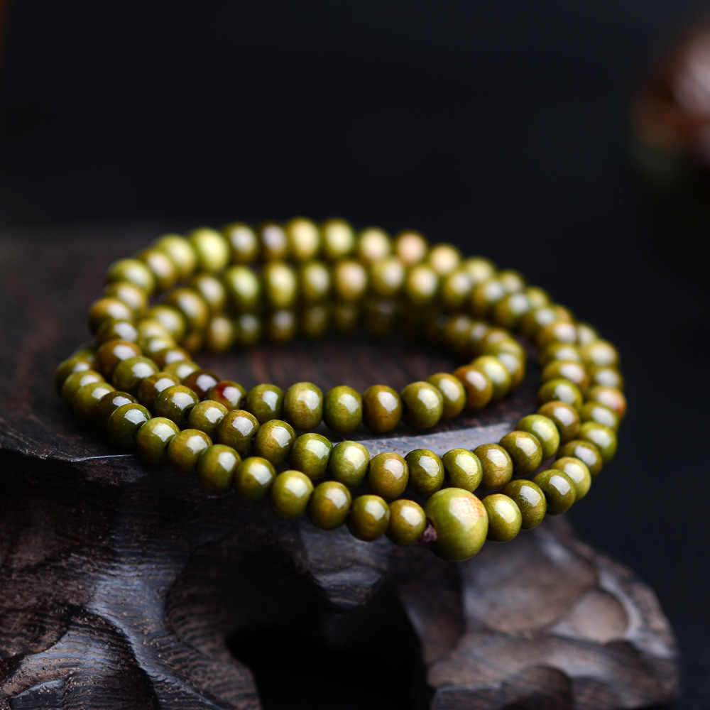 Pulseras 108 koraliki 6mm z prawdziwego drzewa sandałowego buddyjski budda drewno sznur modlitewny Mala Unisex mężczyźni bransoletki i Bangles biżuteria Bijoux