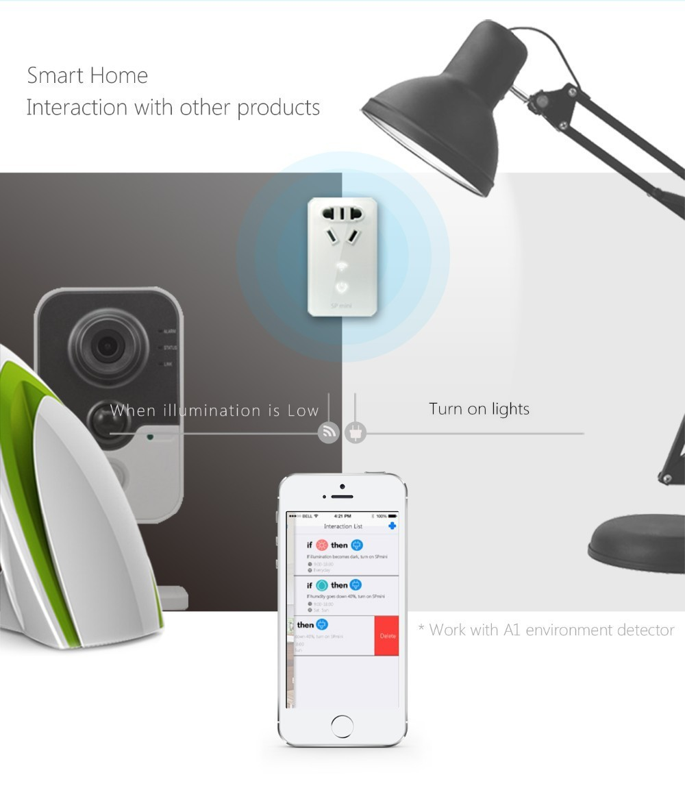 8--Broadlink SP Mini Wifi Smart Socket Remote Control by Phone Wireless Power Plug timer+extender time Home Automation System-
