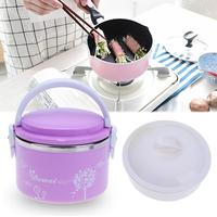 650ML Portable Japanese Bento Box Leak Proof Stainless Steel Thermal Lunch Boxs Kids Picnic Food Storage