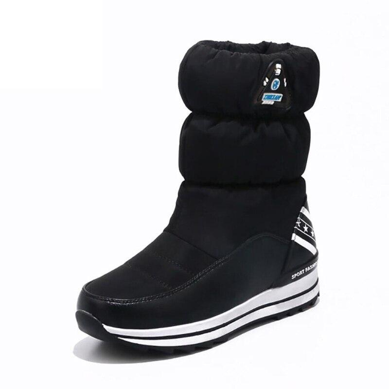 Women boots 2017 new arrivals high quality thicken plush winter shoes fashion women snow boots platform women shoes цена
