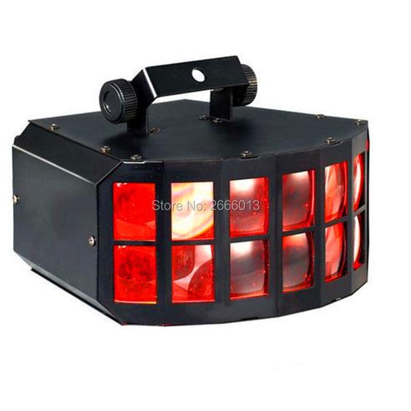 LED disco double butterfly light for DJ Club Party Disco led effect light DMX512 Stage effect lighting Lamp KTV DJ Equipment 36w uv led stage light black light par light ultraviolet led spotligh lamp with dmx512 for disco dj club show party decoration
