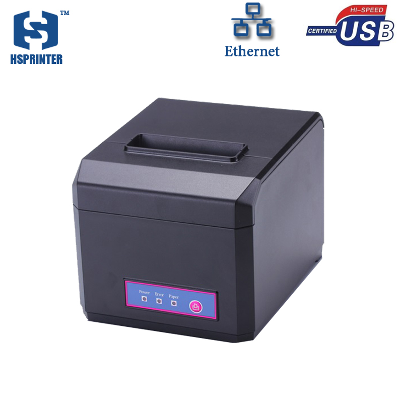 ФОТО RJ45 pos printer manufacturer 80mm thermal receipt printer with auto cutter HS-E81UL waterproof restaurant printing bill machine