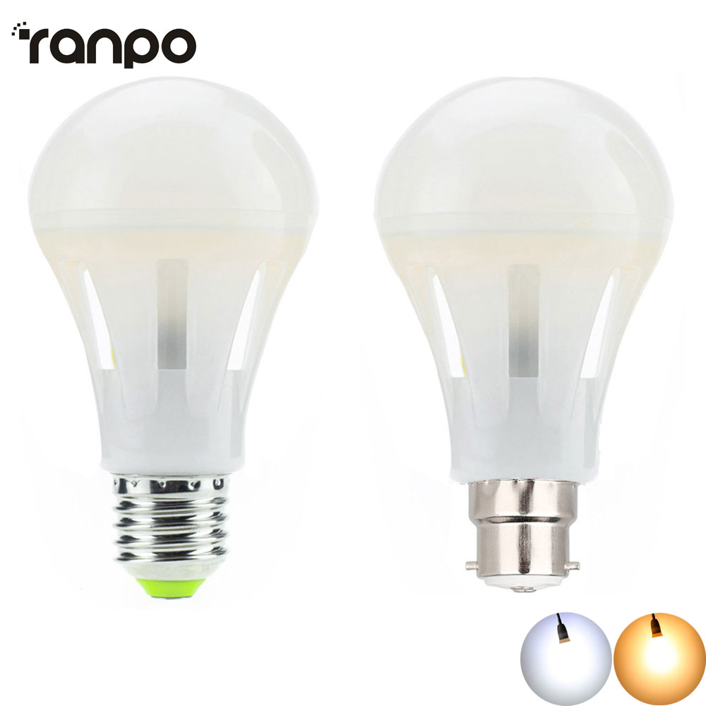 E27 LED Bulb Lights AC 85-265V B22 Bayonet 220V Energy Saving COB Light Cool Warm White Globe Lamp For Home Lightings 680lm mr16 7w cob warm white led spot bulb energy saving light 85 265v