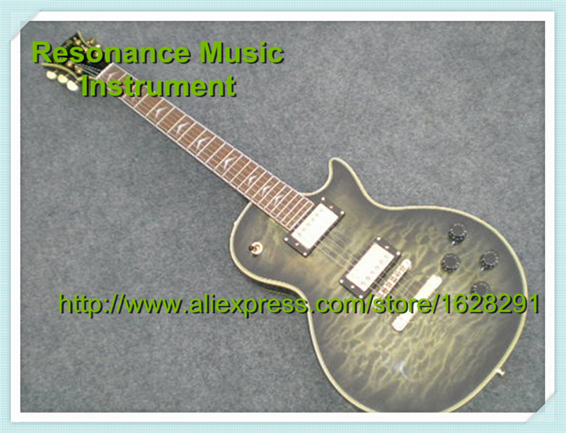 New Arrival Vintage Grey Electric Guitar LP Custom Guitar & Kit Available musiclily 3ply pvc outline pickguard for fenderstrat st guitar custom