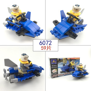 Image 5 - 市警察シリーズミニ警察パイロット労働者ブロック教育ビルディングブロック玩具互換legoing市の子供キッズおもちゃギフト