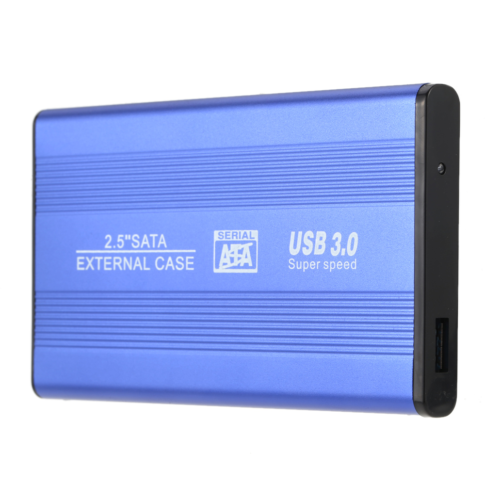 USB 3.0 HDD SSD SATA External Aluminum 2.5 Hard Drive Disk Box Enclosure Case up to 1TB 2.5 SATA external case orico 9528u3 2 bay usb3 0 sata hdd hard drive disk enclosure 5gbps superspeed aluminum 3 5 case external box tool free storage