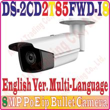 Poe-Ip-Camera Ir-Distance Waterprof DS-2CD2T85FWD-I8 Outdoor-Use with Array LED Long