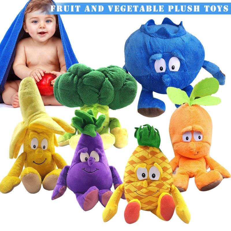 1Pcs Fruit Vegetables Soft Plush Toy Stuffed Doll Cute Gift For Children Kids YH-17