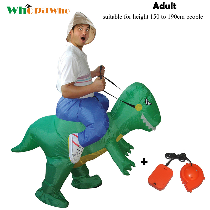 Adult Inflatable Dino Costumes Halloween Costume for Men Woman Cosplay Party Dress