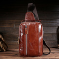 The new leather men 's shoulder bag shoulder leather shoulder bag diagonal cross - package business men Messenger bag Messenger