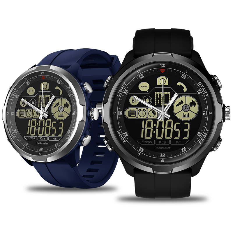 New Zeblaze VIBE 4 Hybrid Flagship Rugged Smartwatch 50M Waterproof 33-month Standby Time 24h All-Weather Monitoring Smart Watch 18