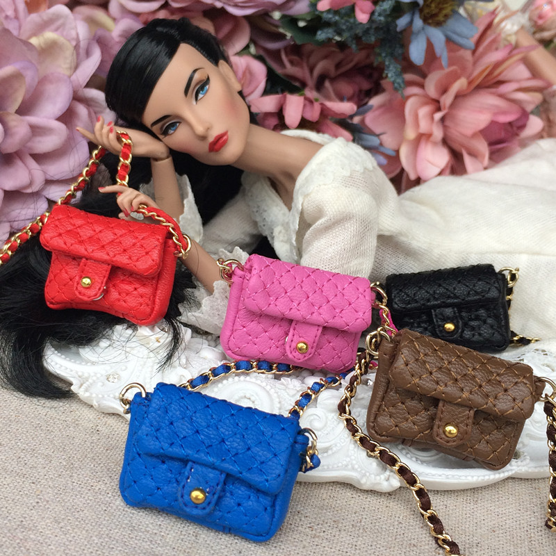 Free Shipping Fashion New Miniature Doll Bag For Blyth Azone Momoko Licca Bjd Doll Accessories Toys Gift Girl Play House