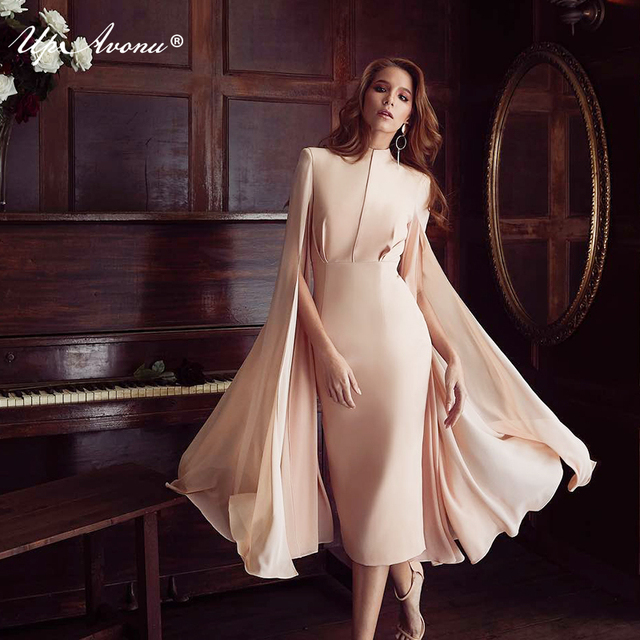 2018 Sexy clothes for summer women stretch full flare sleeve bodycon  bandage evening party dress news to sell dropship UP101 83555af16