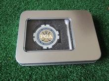 Freeshipping golf zubehör geschenk golf poker chip ball marker ball t zinn box
