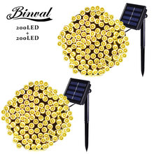 Binval Solar 200 LEDs Outdoor Holiday Lighting Gardens Christmas Lights Waterproof Led Decoration Mariage Party 2 Pieces
