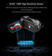 Ordro HDR-AC3 веб-камера ips экран прозрачная 4 K большая широкоугольная Конференц-свадьба DV c Wi-Fi PC 4 k видеокамера