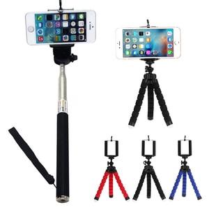 Image 5 - Selfie מקלות חצובה עבור טלפון חכם נייד מתקפל מקל selfie מקל חצובה לgopro xiaomi samsung iPhone 8 8 s