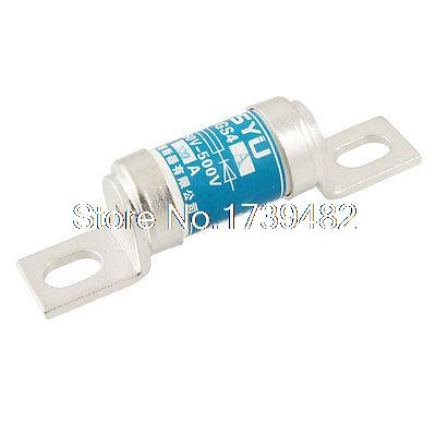 660V 200A Blue Ceramic Insulator Overload Protection Fast Blow Fuse Link 2 pin thermal overload protection