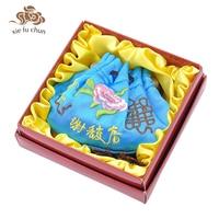 Xiefuchun Chinese Sandalwod Perfume Natural Herb Blue Sachet Scented Wardrobe Car Fresh Perfume Fragrance Deodorat Bag