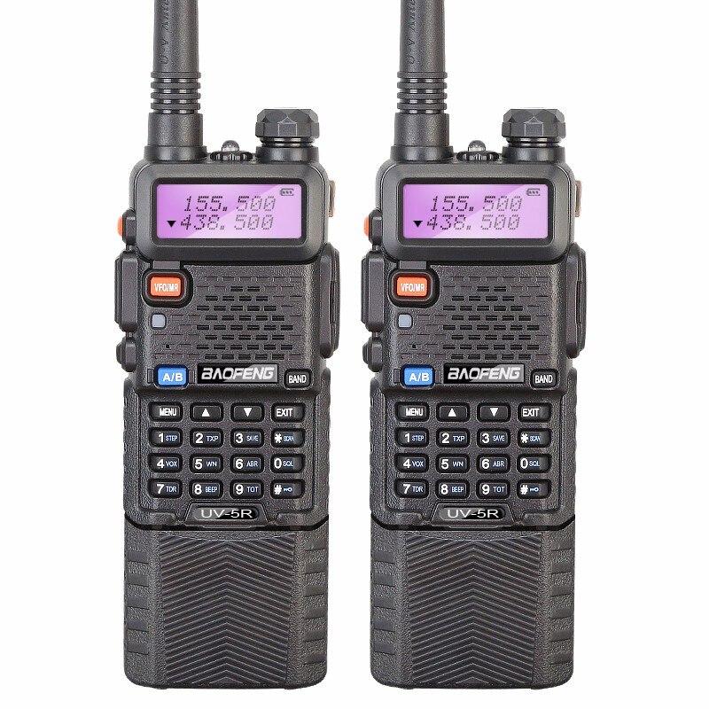 bilder für 2pk 5r baofeng uv-5r 3800 walkie talkie 5 watt dual band radio transceiver cb funksprechkommunikations tragbares radio walkie talkie uv-5r
