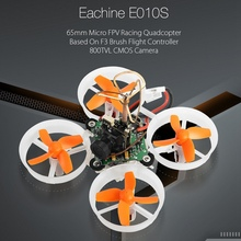 Eachine E010S 65mm Micro FPV Racing Quadcopter with 800TVL CMOS Based On F3 Brush Flight Controller RC Drone BNF VS JJRC H36 E10