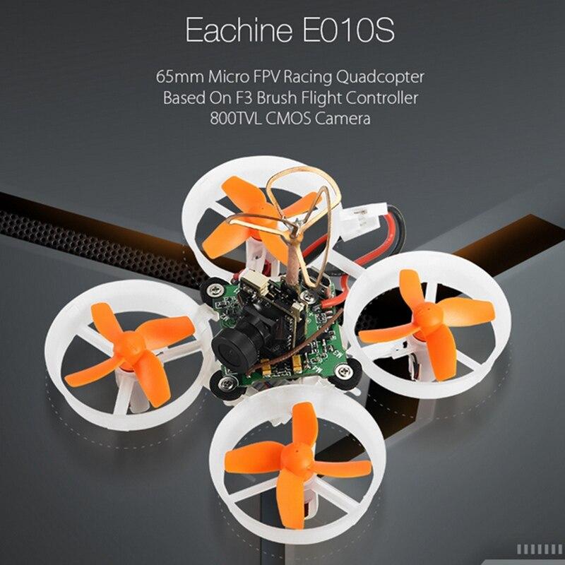 Eachine E010S 65mm Micro Quadcopter FPV Corrida com 800TVL CMOS Com Base em F3 Escova Controlador de Vôo de RC Drone BNF VS JJRC H36 E10