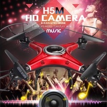 JJRC H5M Music RC Drones 2.4G 4CH 6 Axis Gyro RC Quadcopter One Key Return Speaker Headless Mode Child Gift
