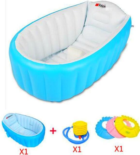 Bañera bebé portátil niños inflables bañera 0-3 año para niños bañera engrosamiento Kids lavan tazón de bebé plegable bañera bañera bebé piscina