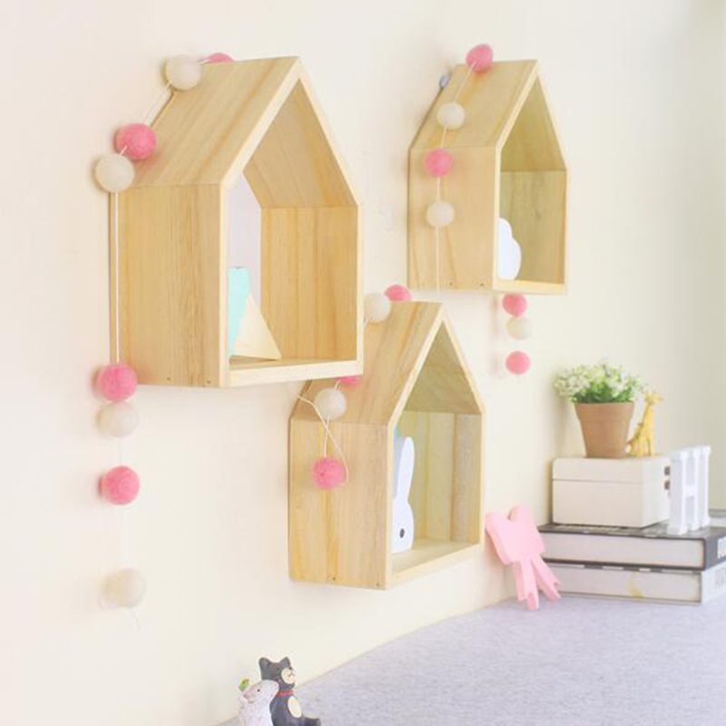 wooden house furniture. 2pcs/Lot INS Nordic Style Wooden House Shelf Wall Decor DIY Hanging Doll Houses Furniture For Children Kids Room Ornaments-in Toys From E