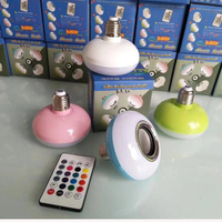 Bluetooth Speaker Smart Box Sound Colorful Bulbs Music Remote Controls Speakers LED Night Light Color Transformation