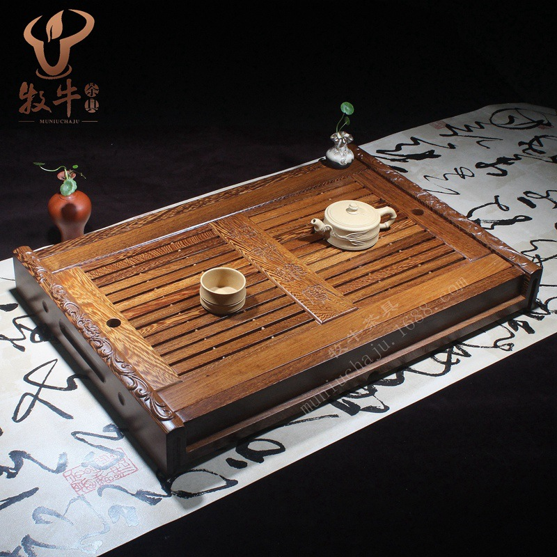 A number of high-grade wooden tray straight 58*40*7 gift tea set all felicitous wish of making money mixed batch 2015 hot sale limited 1 2 years tea gift packing qs health tea sweet gift set 40