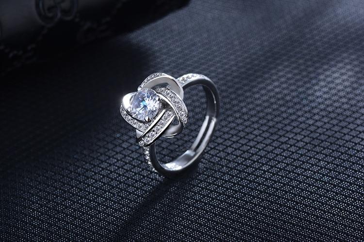 DIEERLAN 19 Bridal Jewelry Sets 925 Sterling Silver Crystal Cross Clover Flower Necklaces for Women Wedding Jewelry Bijoux 9