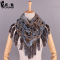 QiuMei Winter Women Scarve With Tassel Rex Rabbit Fur Knitted 100%Real Fur Scarf New Women Luxury Brand Foulard Femme 2017 Shawl