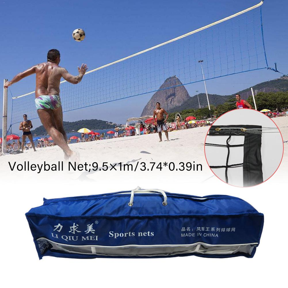2019 New Volleyball Net PVC Mesh Standard Competition Professional Beach Volleyball Sports Net For Outdoor Indoor