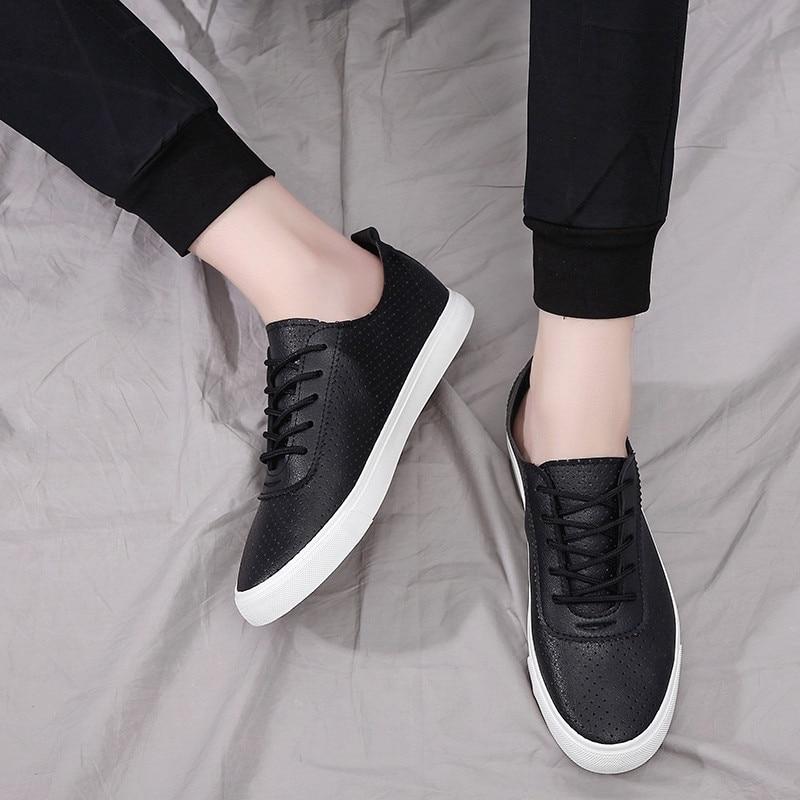 White Leather Sneaker Men Lace