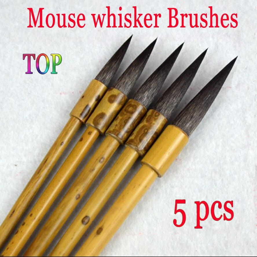 3 pcs TOP Chinese Calligraphy Brush Mouse whisker brush for painting drawing artist brush bamboo penholder supplies цены