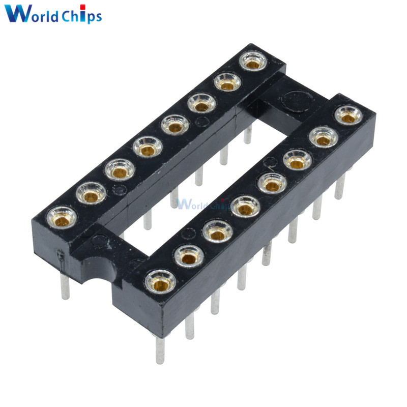 50pcs 20Pin DIP SIP Round IC Sockets Adaptor Solder Type gold plated machined