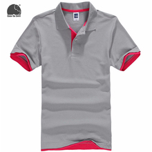 EnjoytheSpirit Polo Shirts Men's Hot Men Solid Color Short-sleeved Polo Shirt Fashion Casual Style New Brand Grey Male Clothes