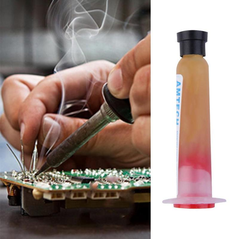 Weak Acid Smd Soldering Paste Flux Grease 10cc Rma-223 With Flexible Tip Syringe Solder Paste Flux Grease Repair Solde Smd Tools