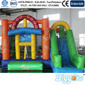 Colorful Inflatable Bouncy House With Slide For Children Jumping