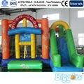 Colorido Inflável Casa Bouncy Com Slide Para Crianças Pulando