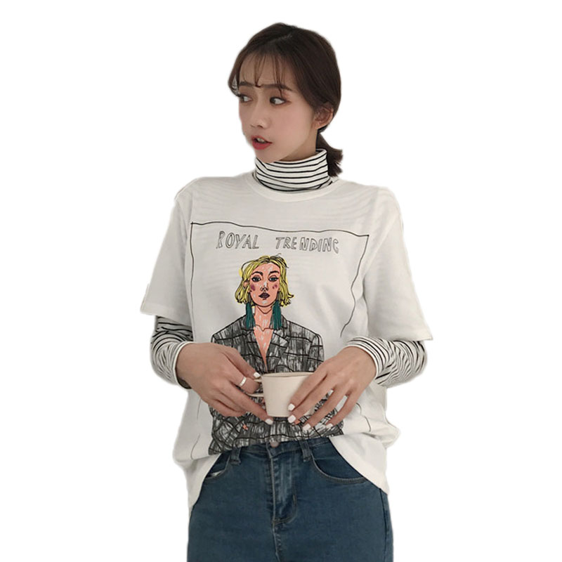 Été T-shirt Femmes À Manches Courtes D'o-Cou Harajuku Kawaii Drôle de Bande Dessinée T-shirt Occasionnel T-Shirt Camisetas Feminina Lady Tops Tee