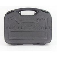 2017 New Gun Storage Case ABS Plastic Box Gun Guard Case Hunting Hard Storeage Case 33X23X8cm Large Capacity with Foam