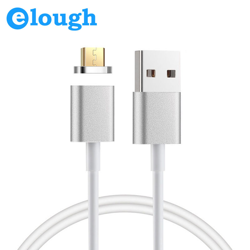 Elough 2.4A Magnetic Cable Magnetic Charger Microusb Cable For Xiaomi LG Android 1M Mobile Phone Magnet Charge Micro USB Cable