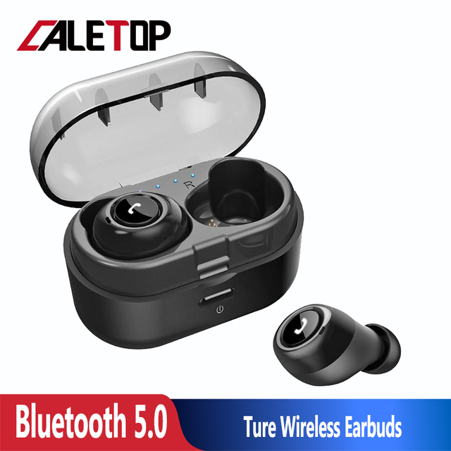 CALETOP TWS 5.0 Bluetooth Earphones HIFI Music Wireless Headphones Stereo Sporting Headsets with Charging Case For iphone Xiaomi