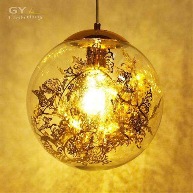 aliexpress koop goud zilver hanglamp glas bal nordic